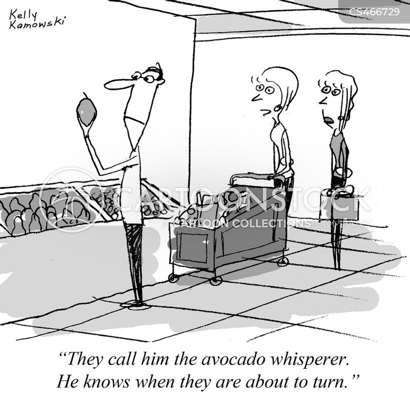 avocado cartoon