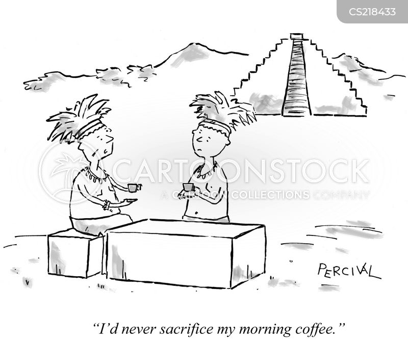 sacrificial cartoon