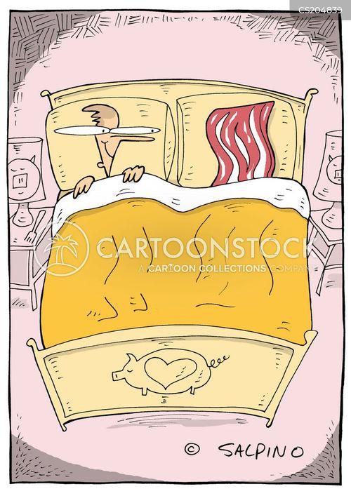 bacon lover cartoon