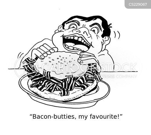 bacon butties cartoon