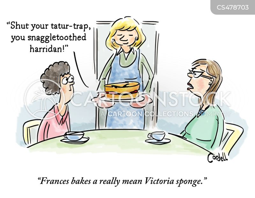 home-baking cartoon