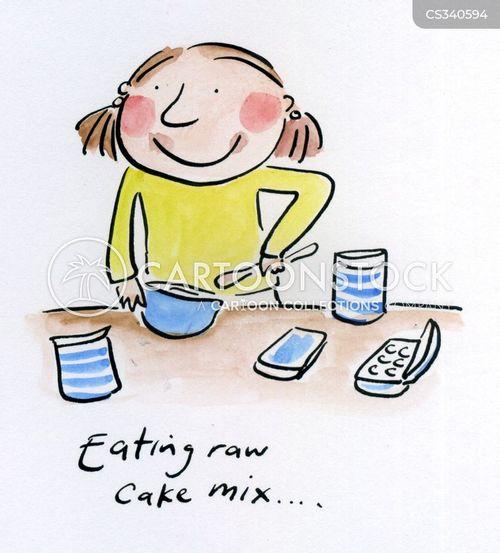 cake mix cartoon