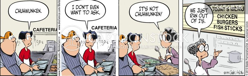 cafeteria food cartoon