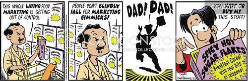 marketing gimmick cartoon
