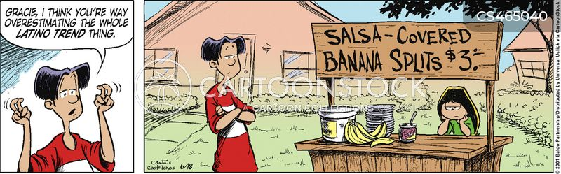 latino foods cartoon
