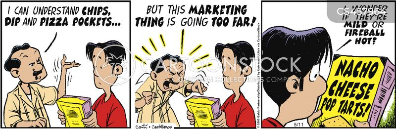 advertising scam cartoon