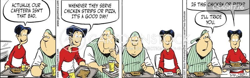school cafeteria cartoon