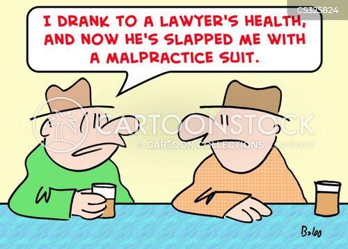 malpractice suits cartoon