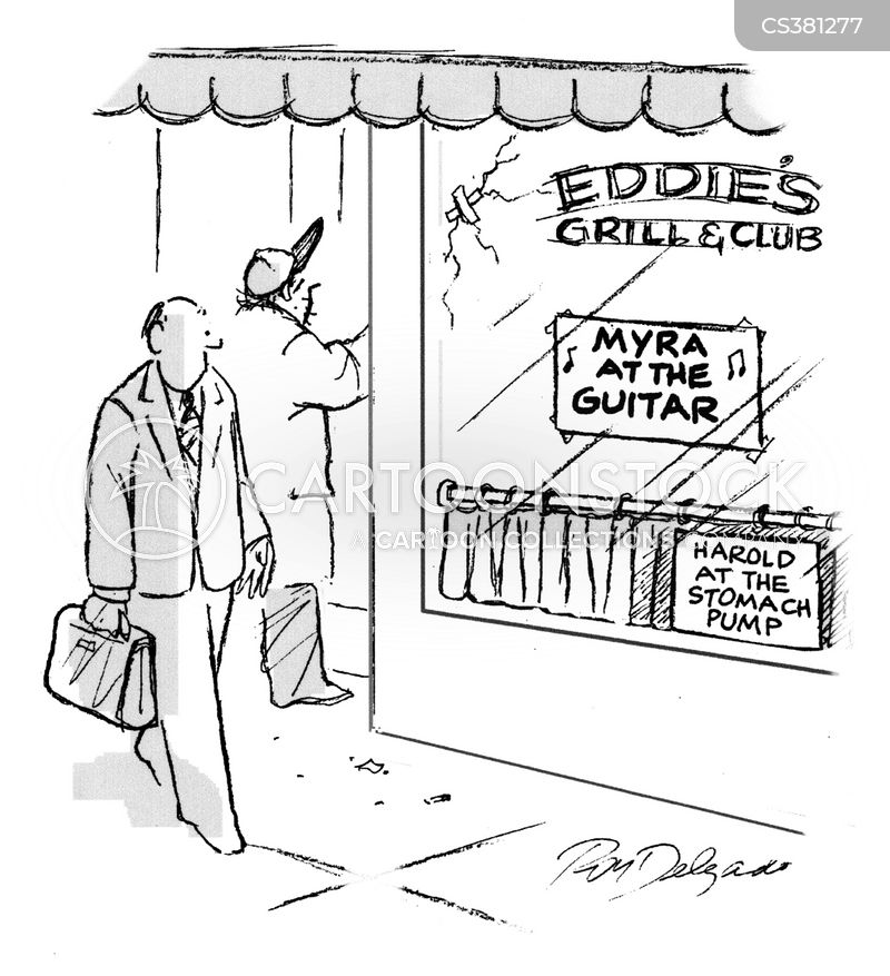 bar and grill cartoon