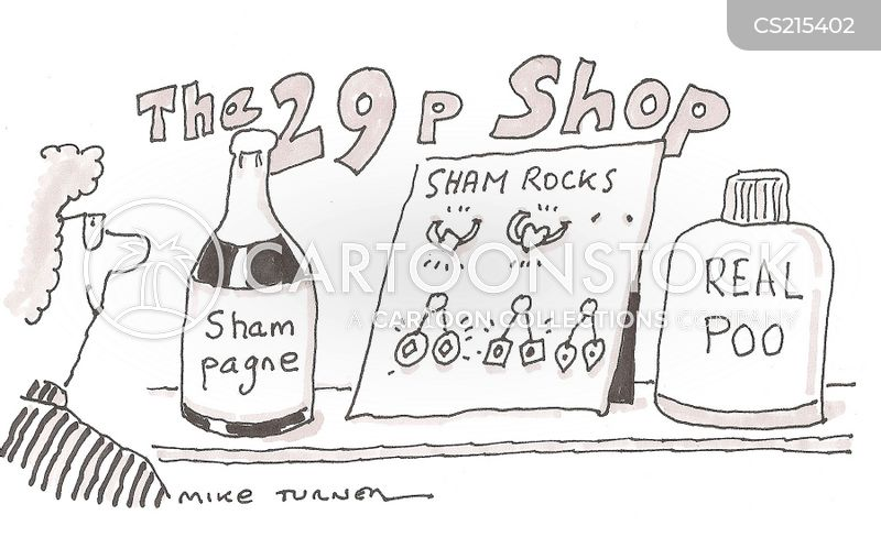 bargain shop cartoon