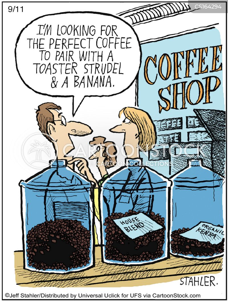 coffee blends cartoon