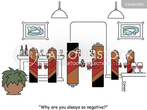 negative charge cartoon