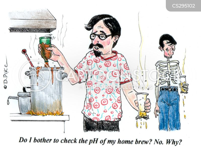home brewing cartoon