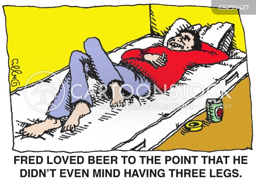 three legs cartoon