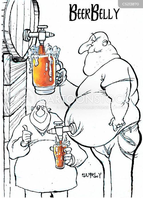 beer keg cartoon