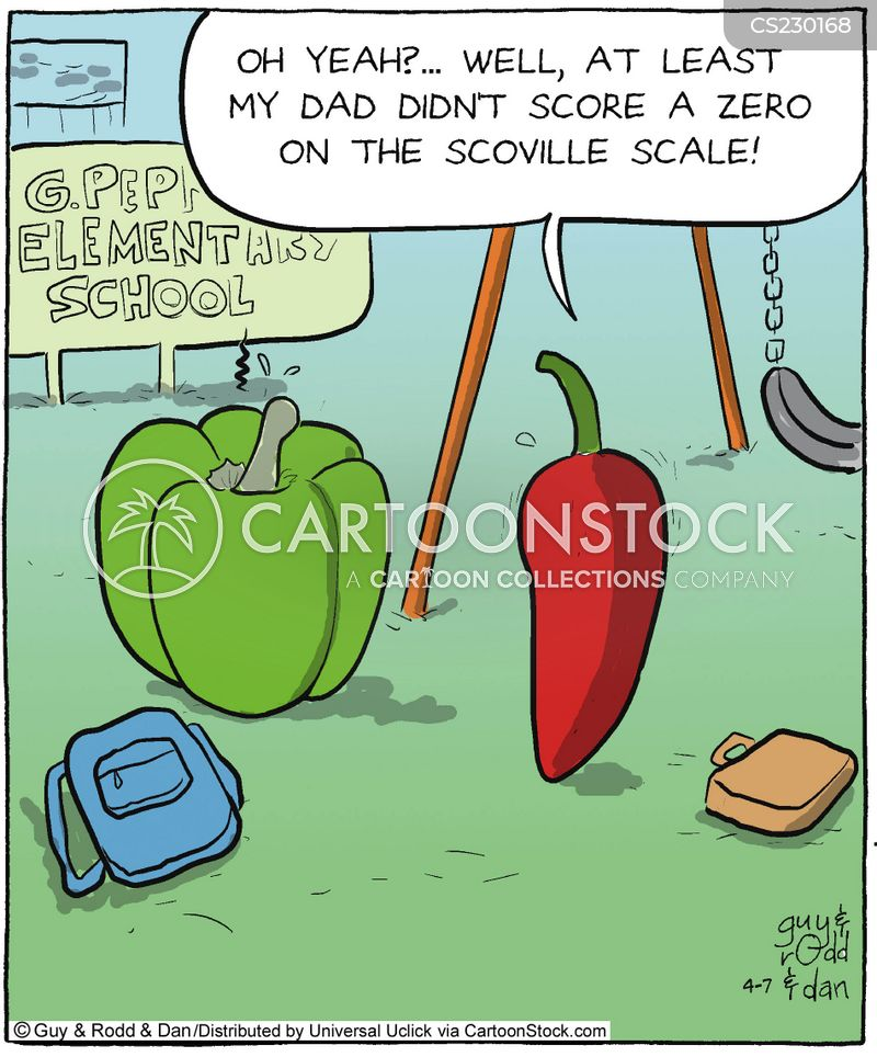 spicy peppers cartoon