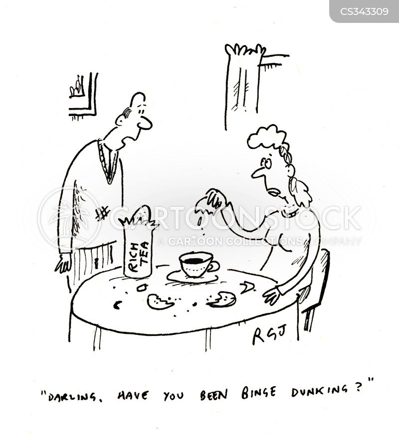 dunking biscuits cartoon