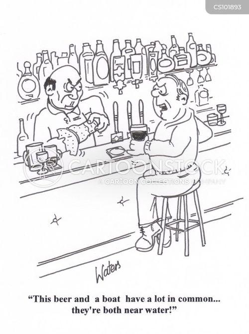 drinking pints cartoon