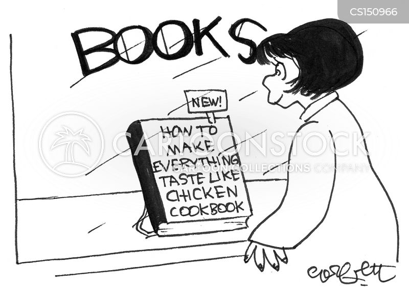 tasting food cartoon