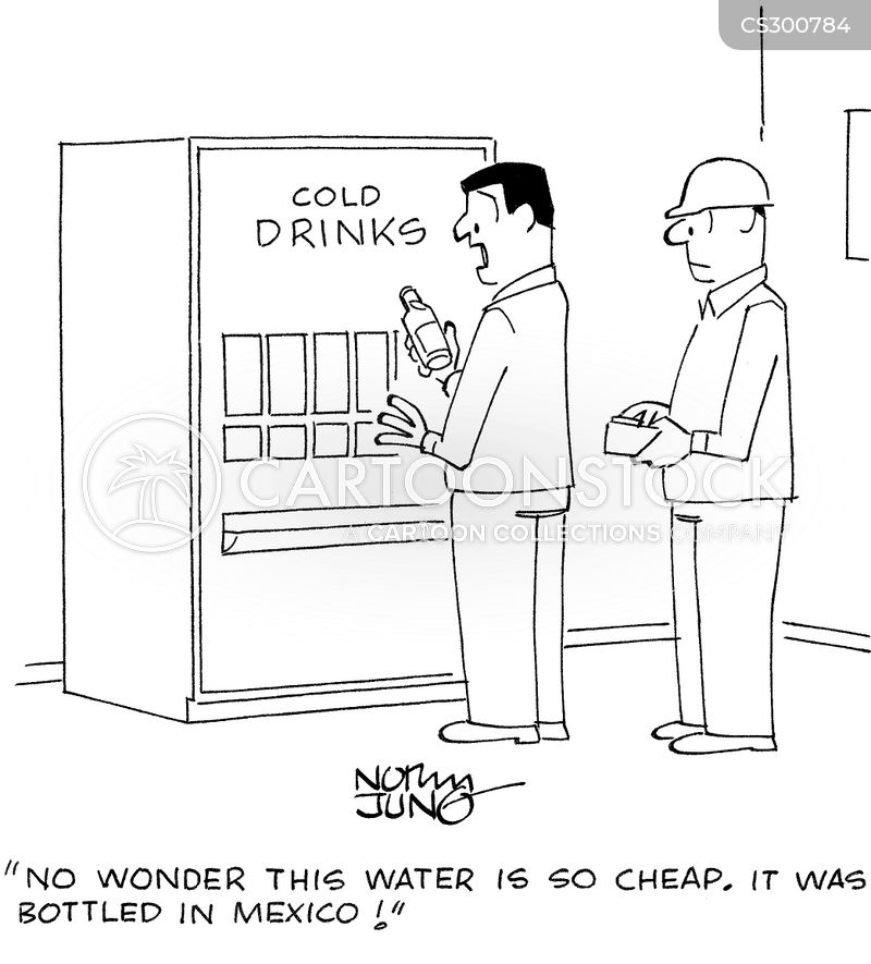 contaminated water cartoon