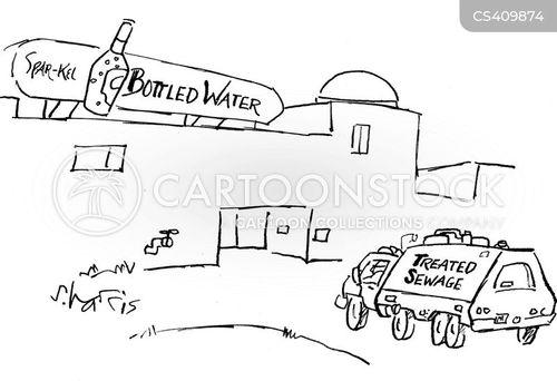 bottled waters cartoon