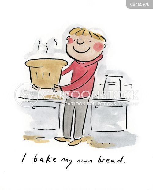home baking cartoon