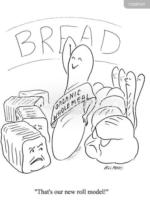 brown bread cartoon