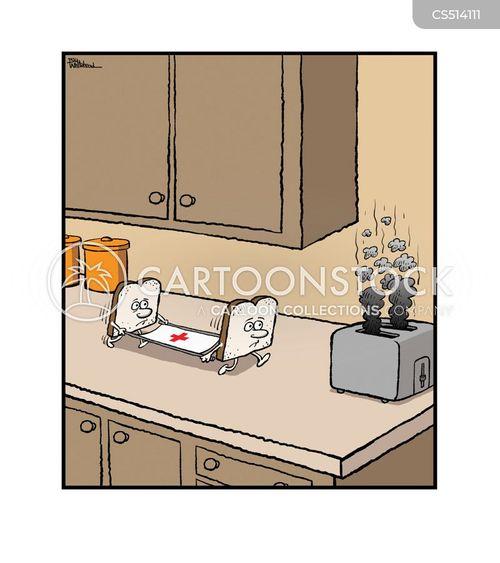 burnt toast cartoon