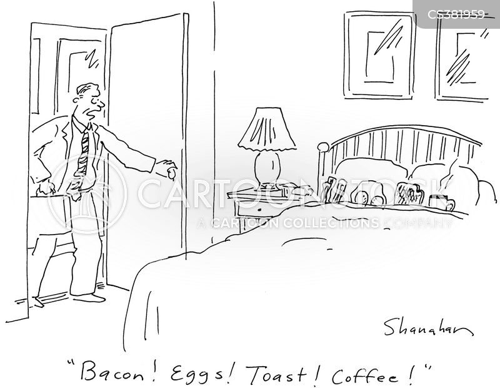 eggs and bacon cartoon