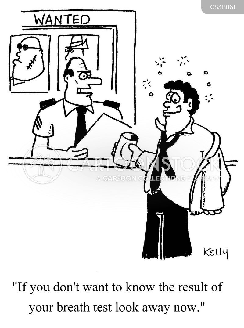 breathalysed cartoon