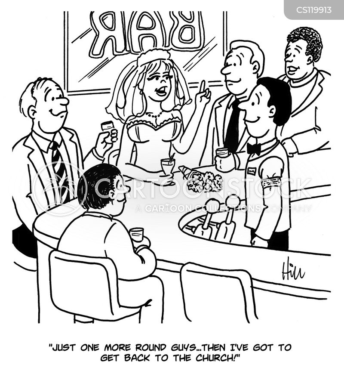 drinks round cartoon