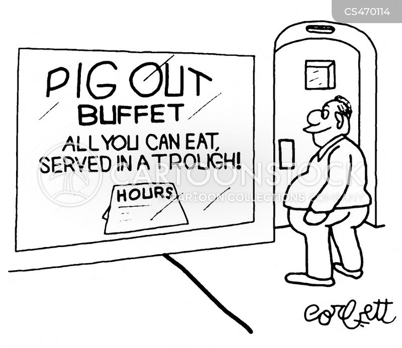 pig out cartoon