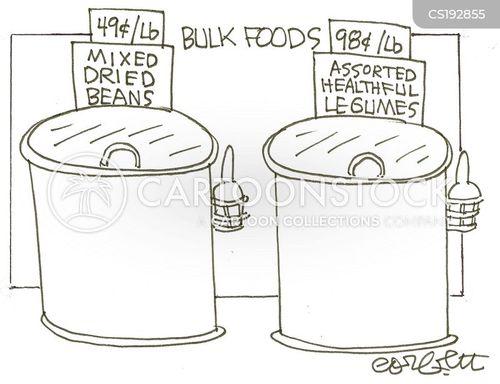health food shops cartoon