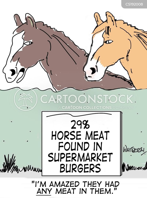 horse meat cartoon