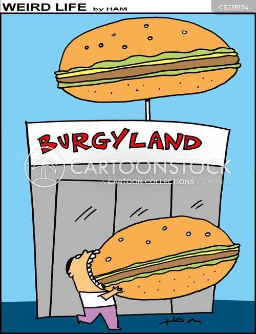eating burgers cartoon