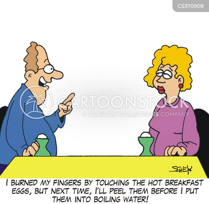 cooking eggs cartoon