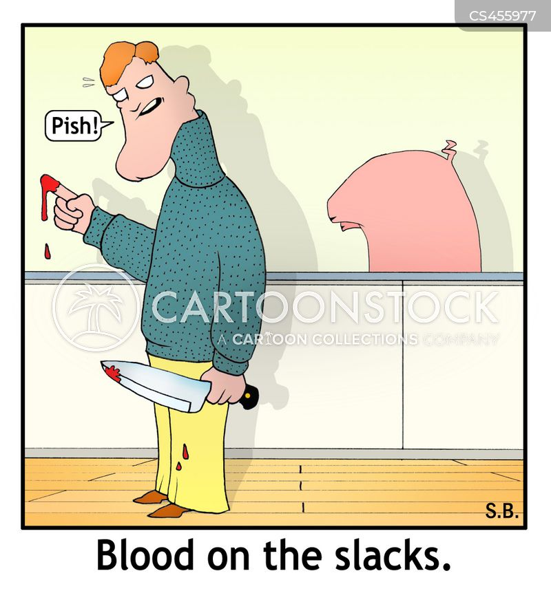 bloodstain cartoon