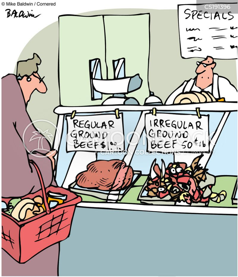 meat counters cartoon
