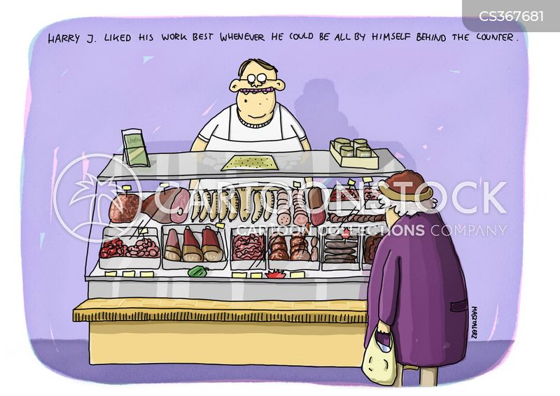 meat products cartoon