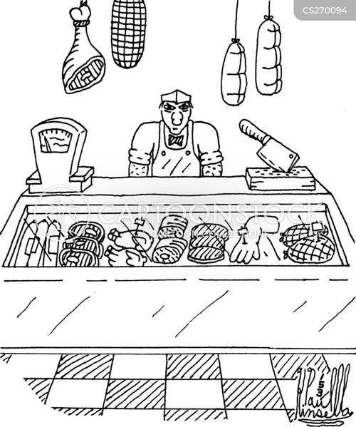 butchery cartoon