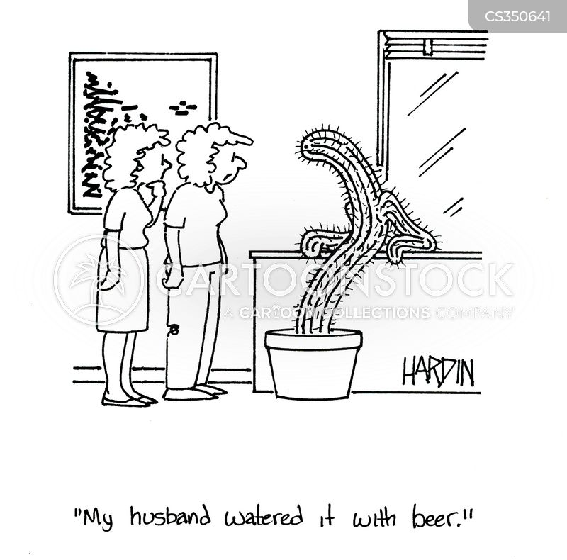 watering plants cartoon