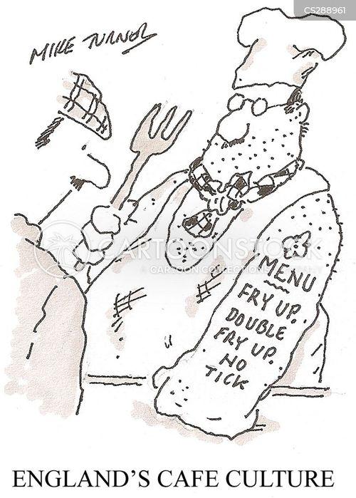 cafe culture cartoon