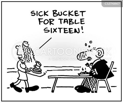 vomited cartoon