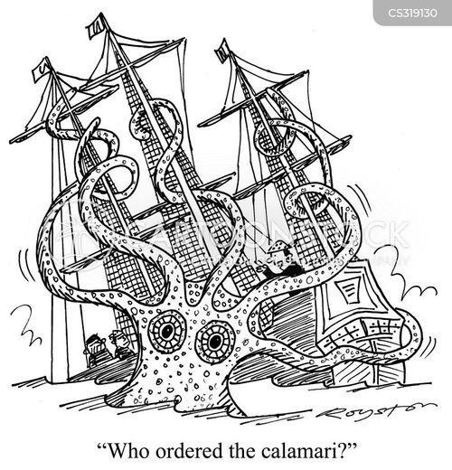calamari cartoon