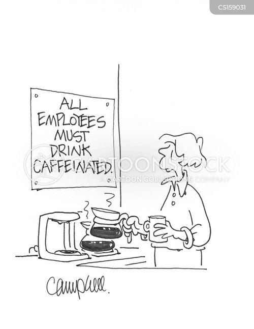 caffeinated drinks cartoon