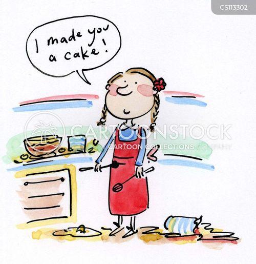 making cakes cartoon