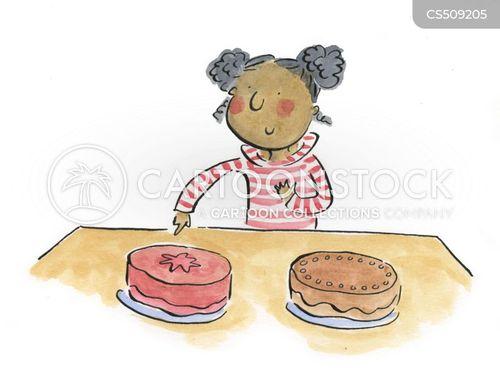 piece of cake cartoon