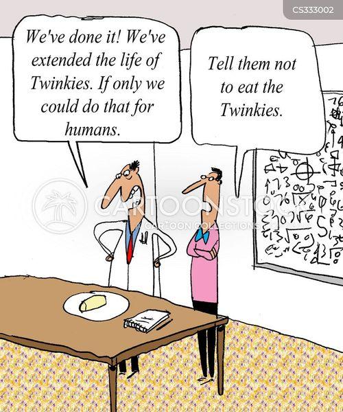fattening foods cartoon