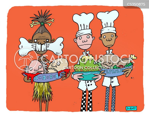 gourmet food cartoon