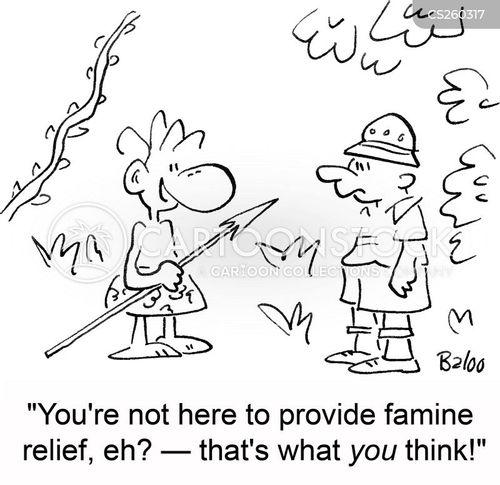famine relief cartoon